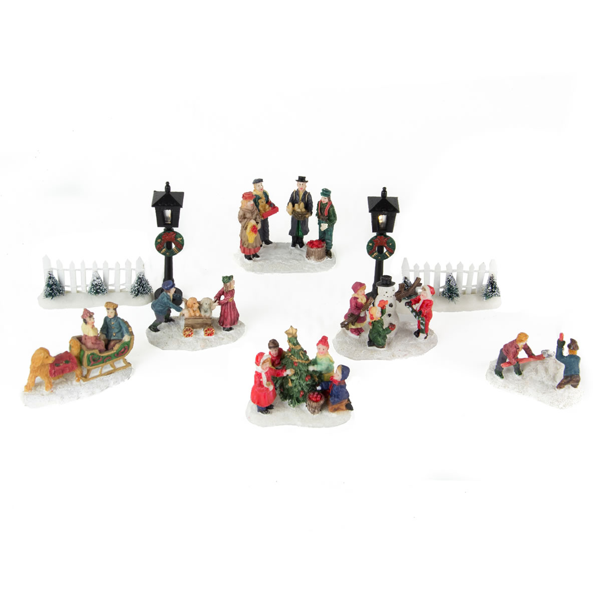 Village Figurines and Lamps s/10