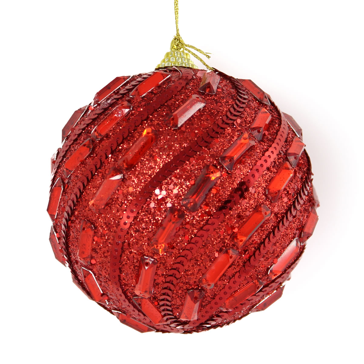 Red Jewled Bauble 10cm