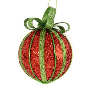Red Gift Bauble 8cm