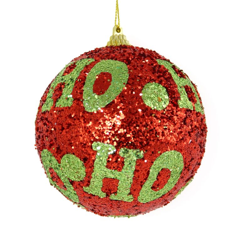 Red Ho Ho Bauble 10cm