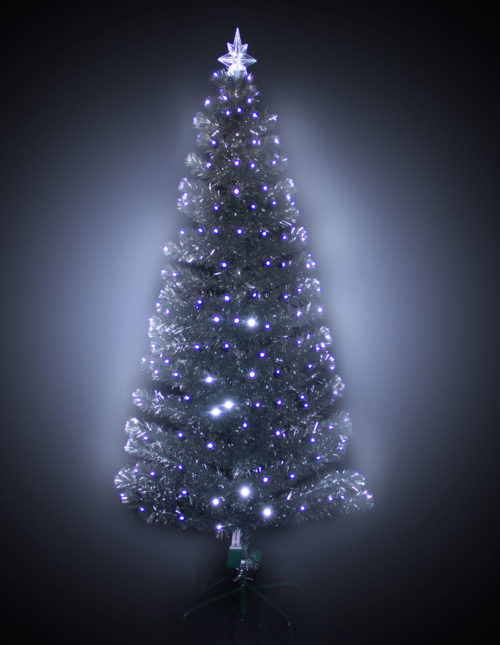 #3113 Silver LED F/O Tree 180cm