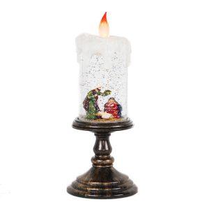 Acrylic Nativity Candlestick