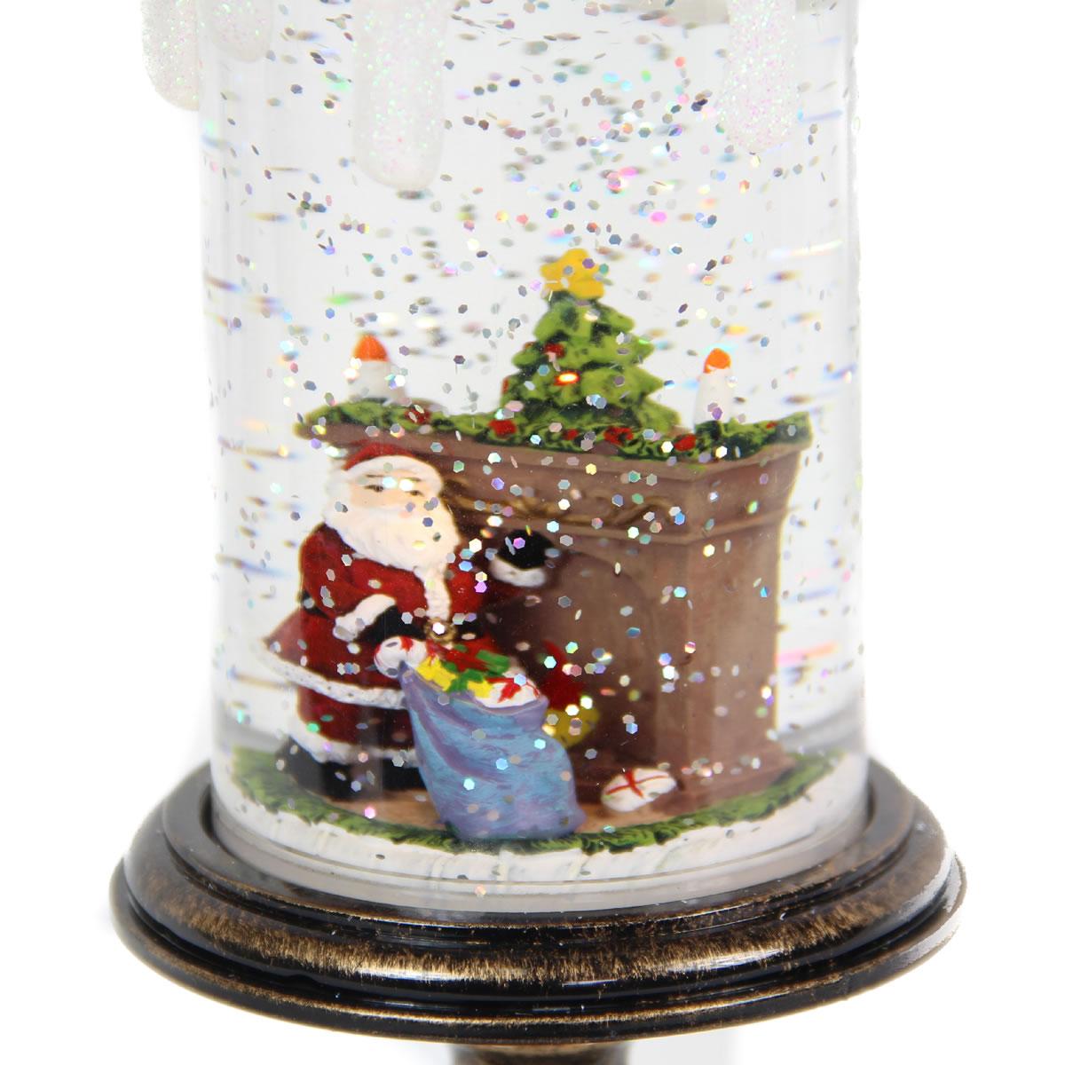 Acrylic Santa Candlestick
