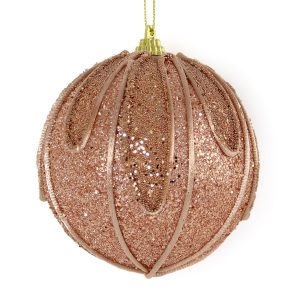 Copper Swag Bauble 10cm