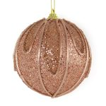 Copper Swag Bauble 10cm
