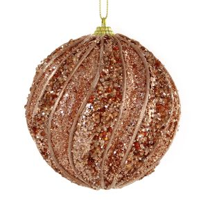 Copper Segment Bauble 10cm