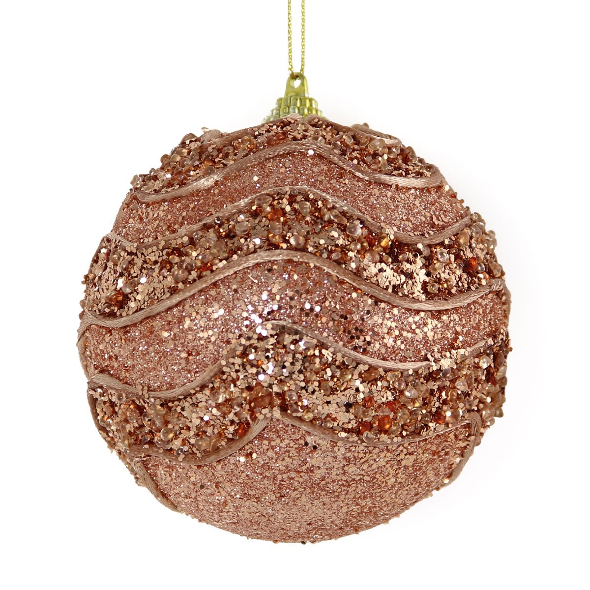 Copper Waves Bauble 10cm