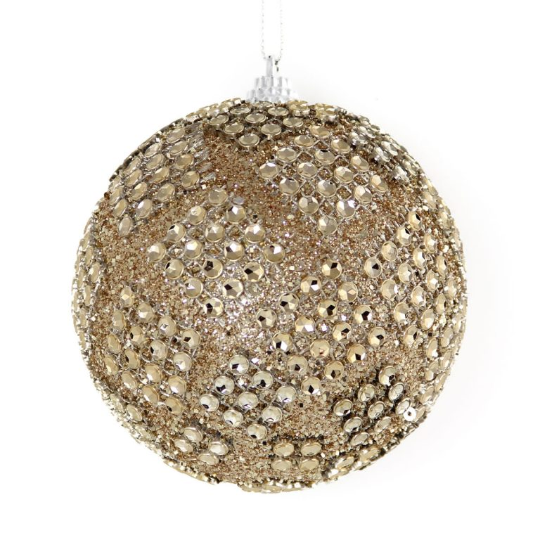 Champagne Diamante Bauble 10cm