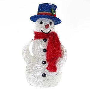 White Spun Snowman 50cm