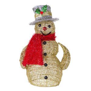 Gold Spun Snowman 50cm