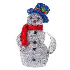 Silver Spun Snowman 50cm
