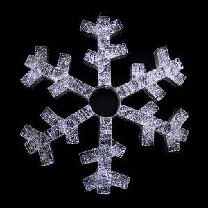 White Spun Snowflake 110cm