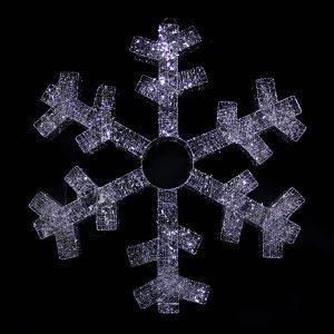 Silver Spun Snowflake 110cm