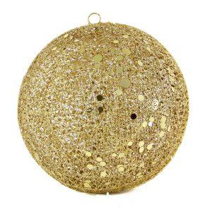 Gold Spun Bauble 20cm