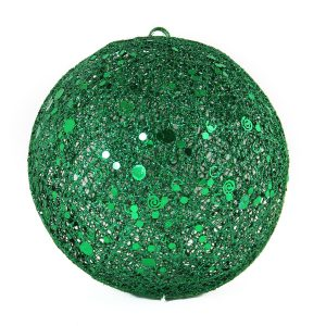 Green Spun Bauble 20cm