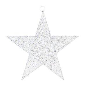 White Spun Star 20cm