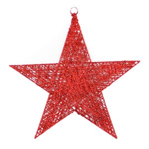 Red Spun Star 40cm
