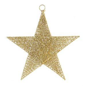Gold Spun Star 40cm