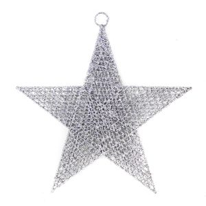 Silver Spun Star 40cm
