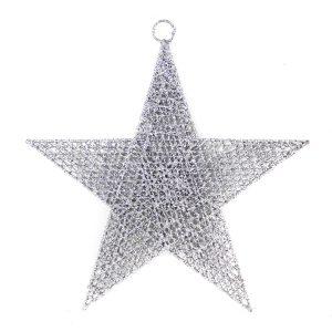 Silver Spun Star 60cm