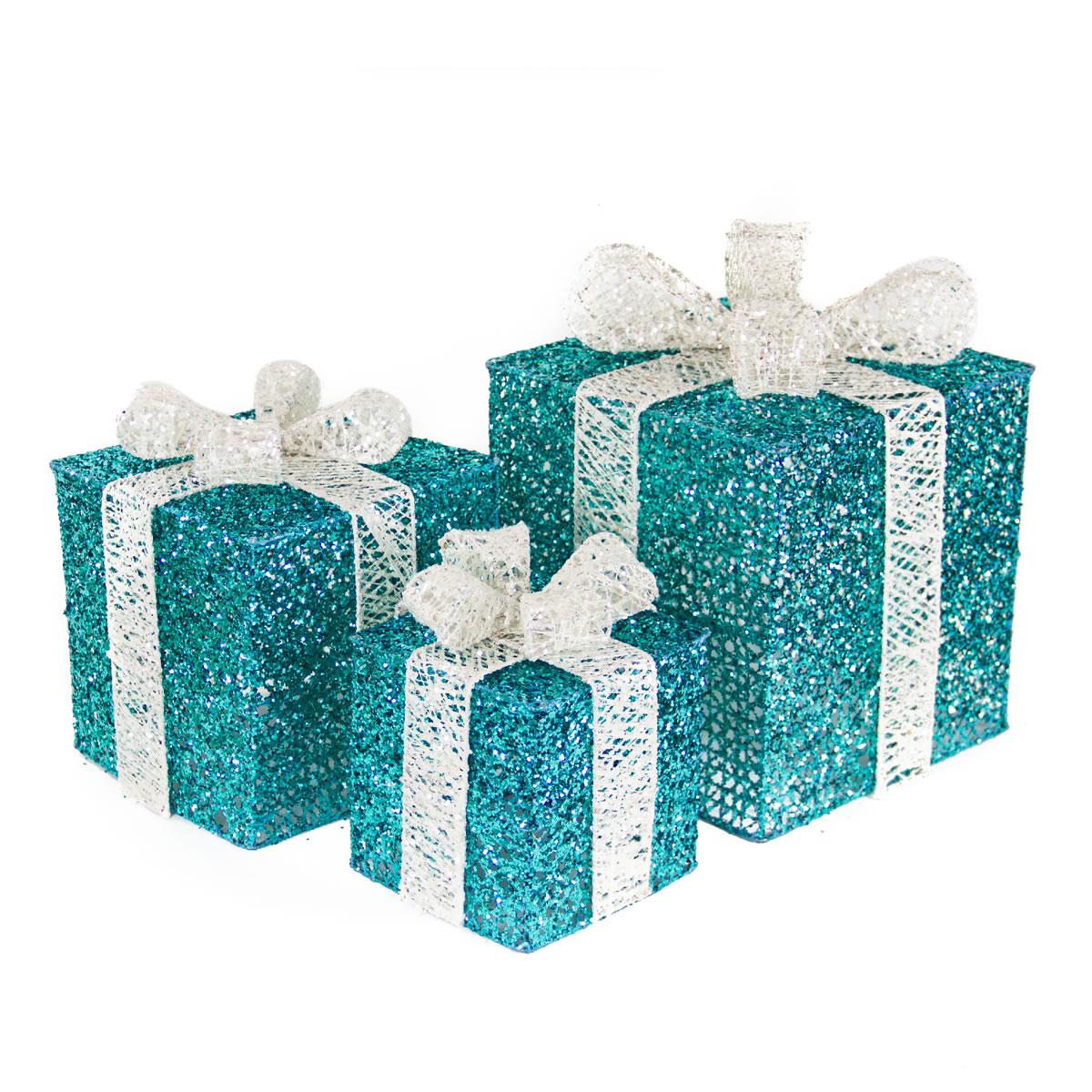Turquoise Spun Gift Box S/3