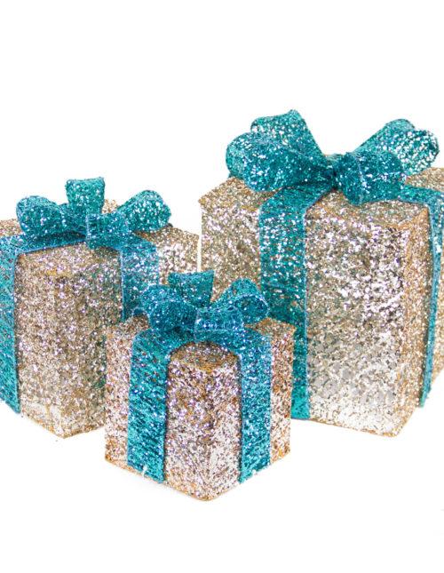 Champagne Spun Gift Box s/3
