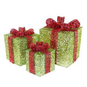 Apple Green Spun Gift Box S/3