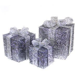 Grey Spun Gift Box s/3