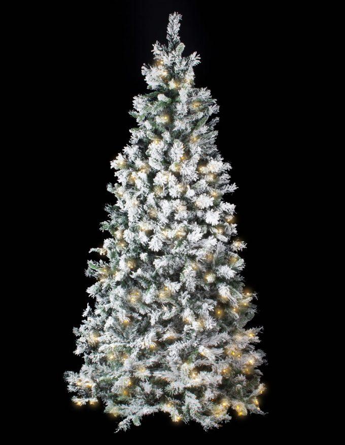 #6971 Flocked Colorado 225cm 900 tips 400 WW LED