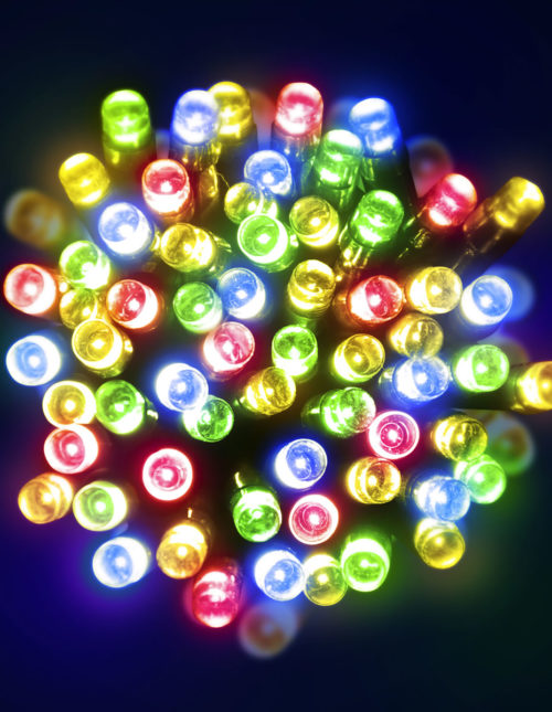 200 Multicolour LED Battery Lights