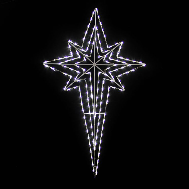 Nativity Star White LED 120cm x 73cm