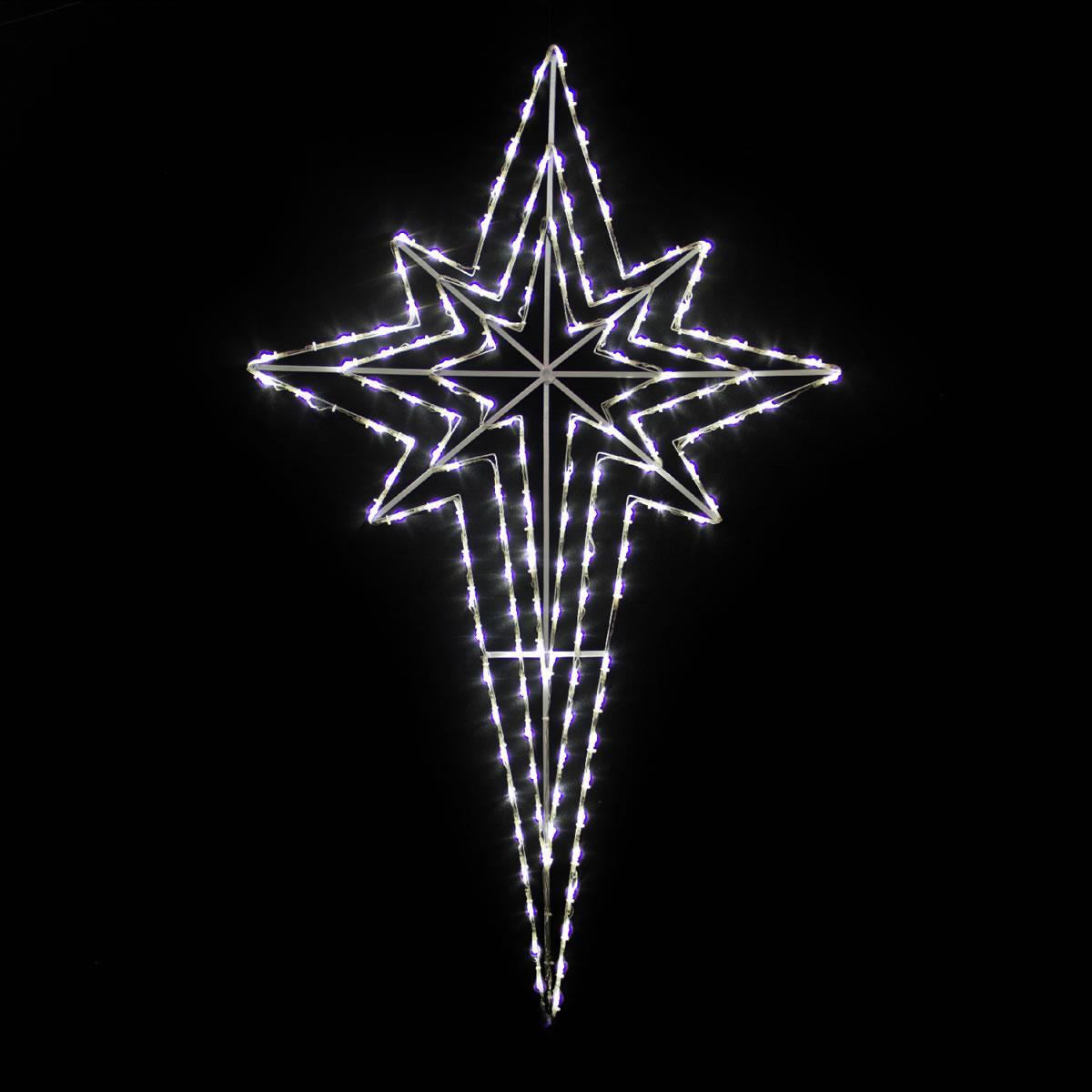 Nativity Star White LED 120cm x 73cm