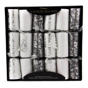 35cm 6pk Silver Perlized Bon Bons Deluxe