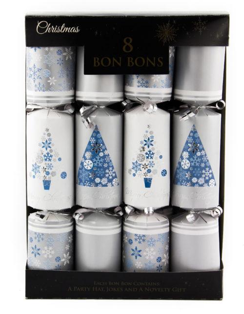 30cm 8pk Silver Tree Bon Bons