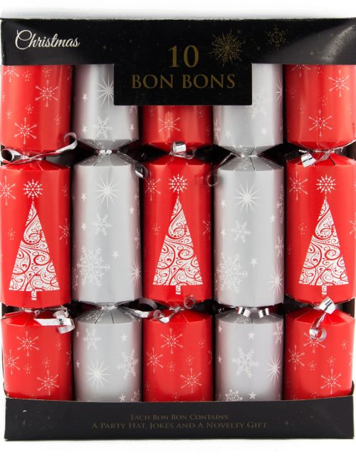 30cm 10pk Glitter Tree Bon Bons Deluxe